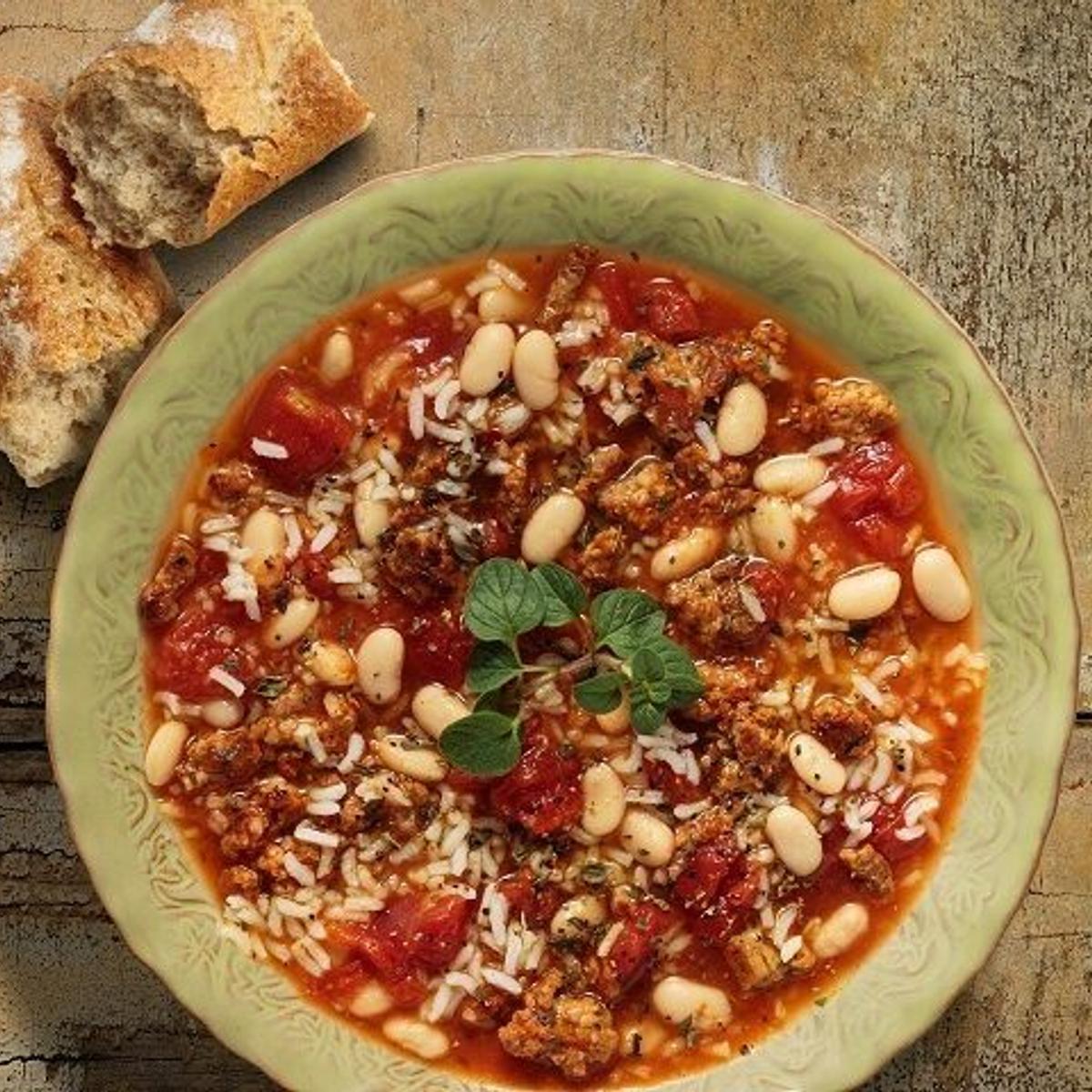 Tuscany Rice & Bean Soup Recipe
