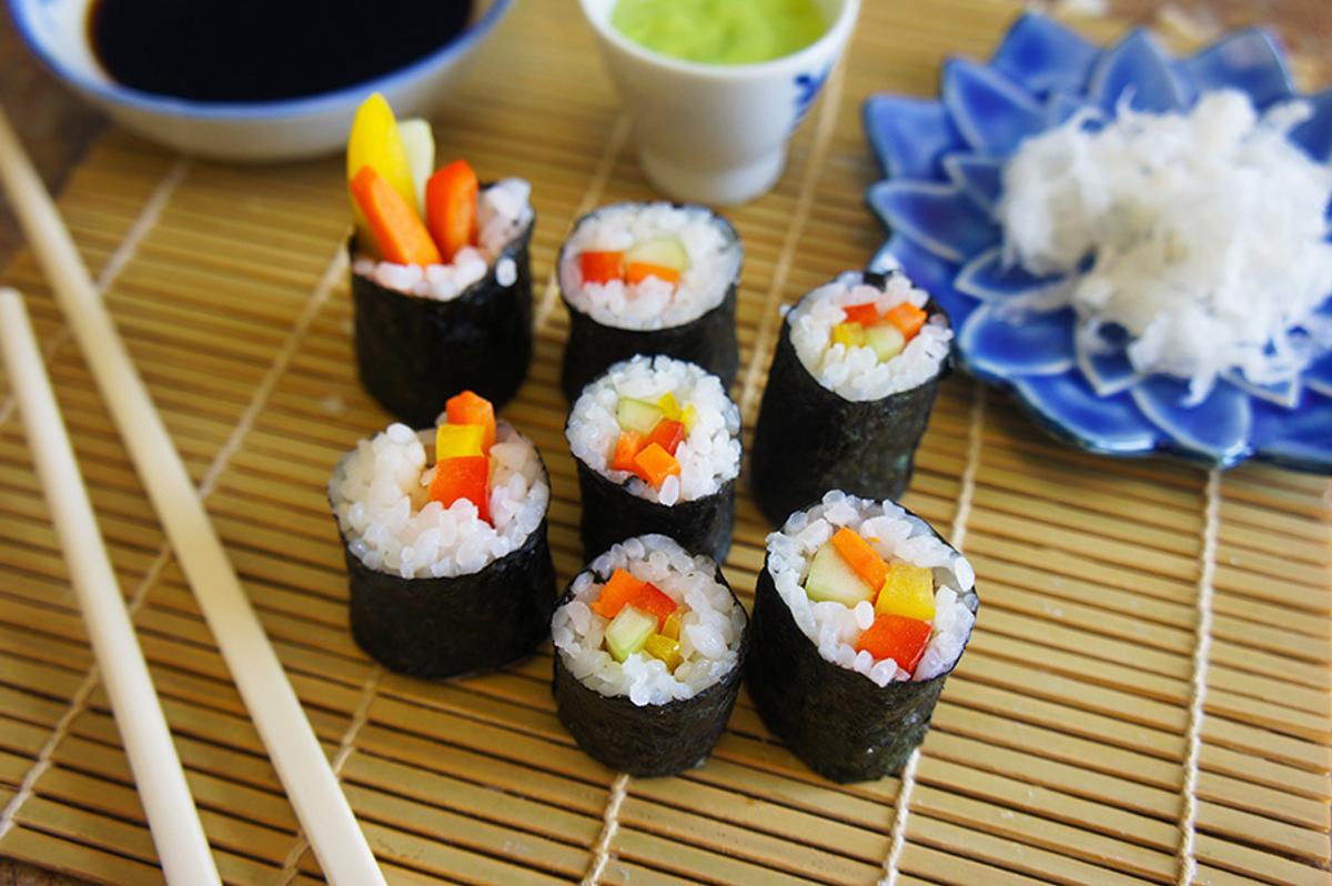 Vegetarian Sushi Rolls Recipe
