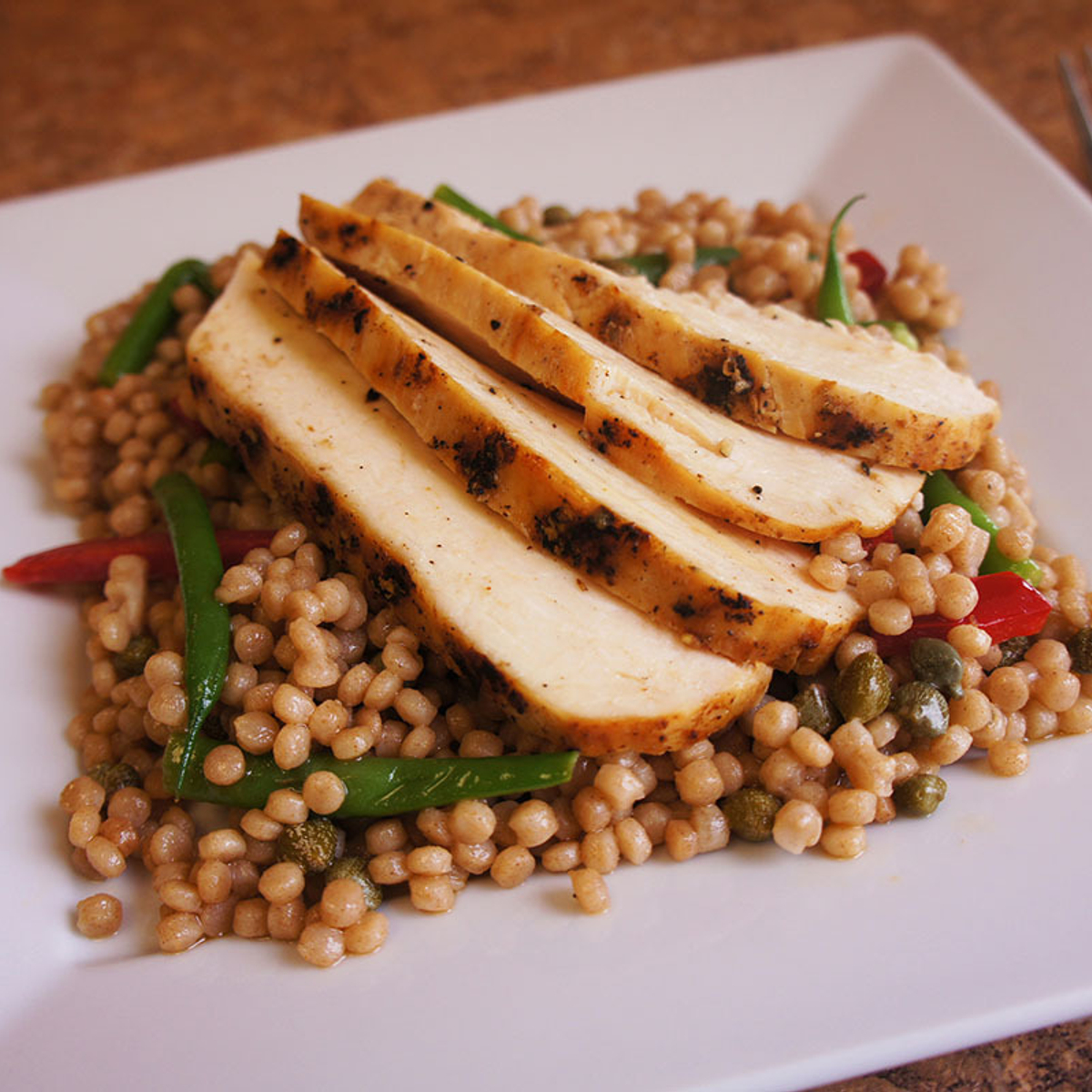 Whole Wheat Couscous Salad with Grilled Chicken Recipe
