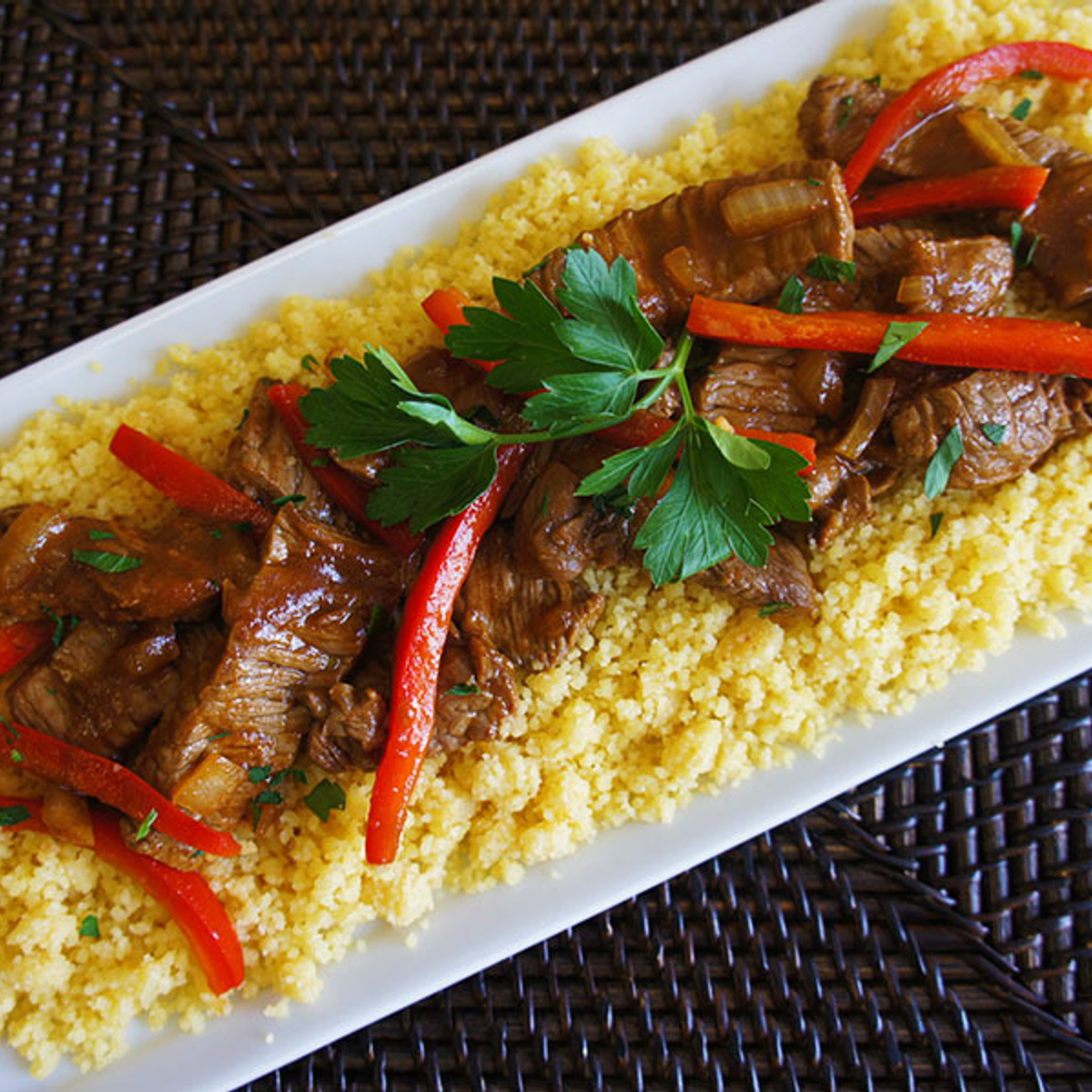 Beef Stir-Fry with Couscous Recipe