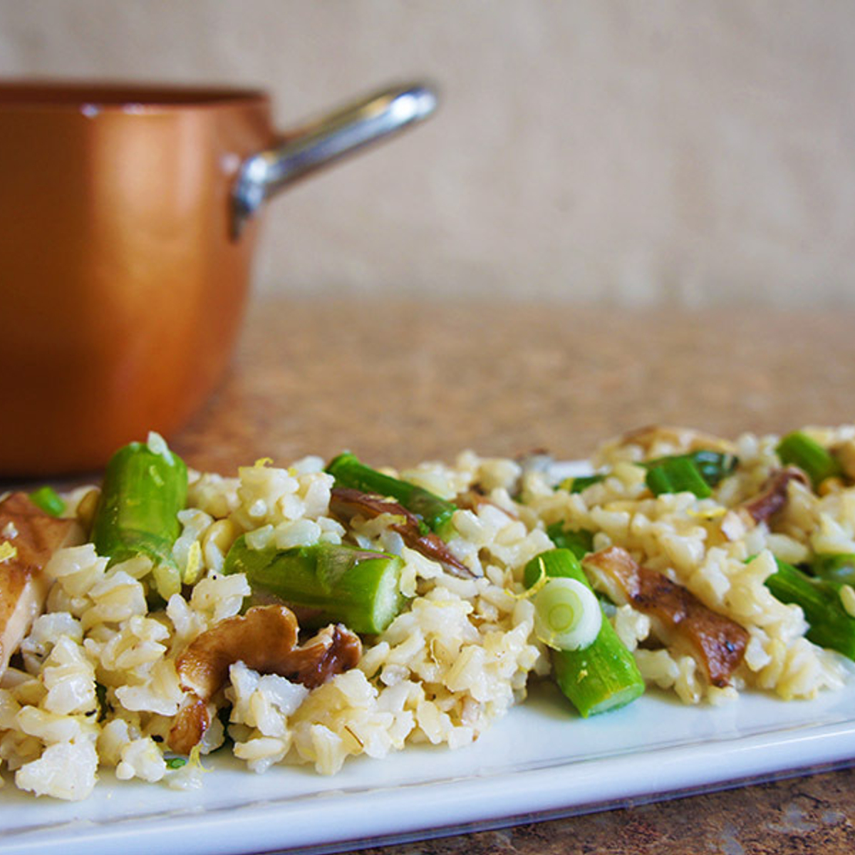 Brown Rice & Shiitake Pilaf Recipe