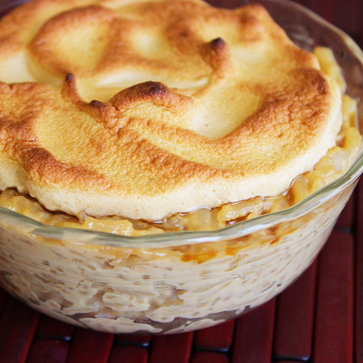Butterscotch Rice Pudding with Brown Sugar Meringue Recipe