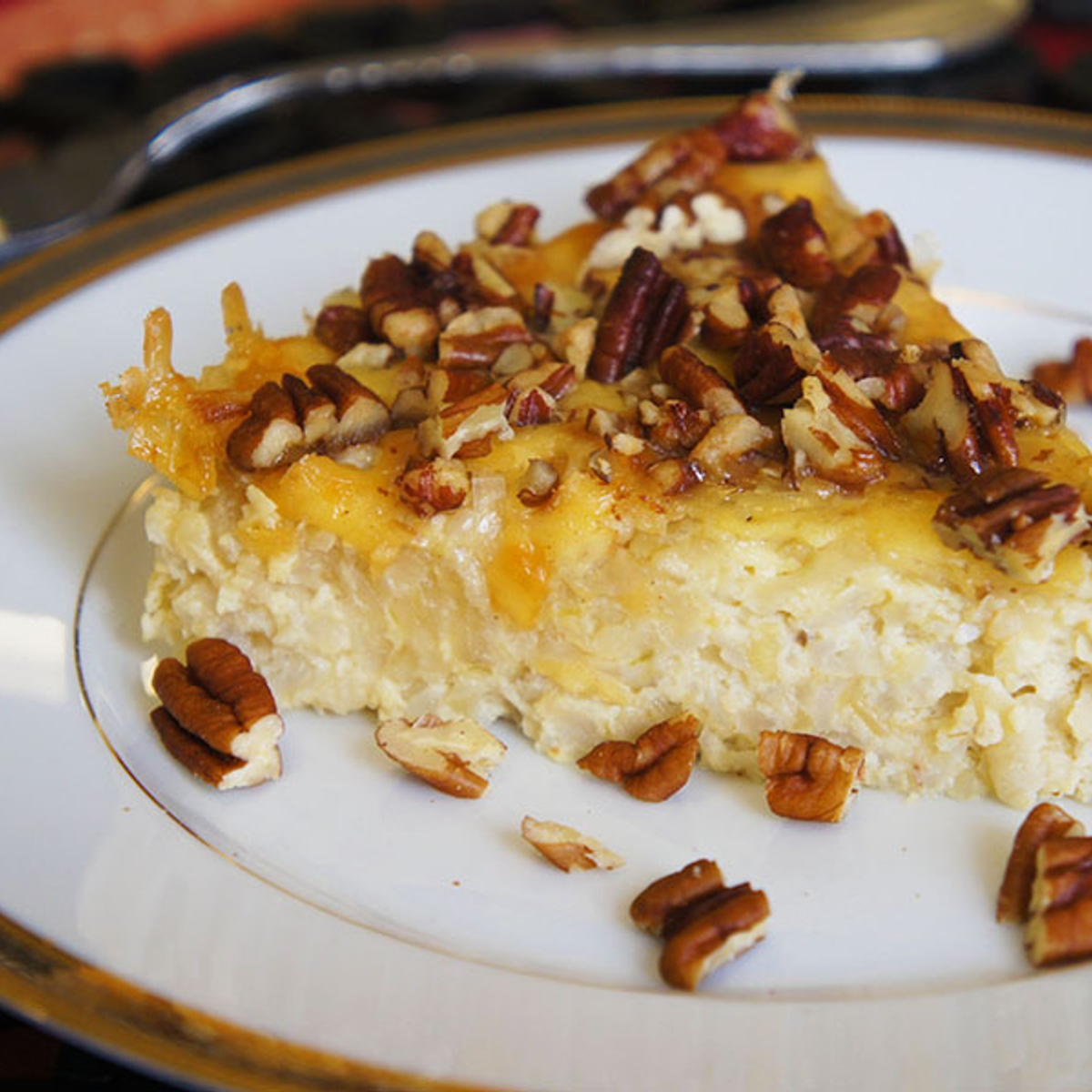 Caramelized Onion, Smoked Gouda & Pecan Rice Tart Recipe