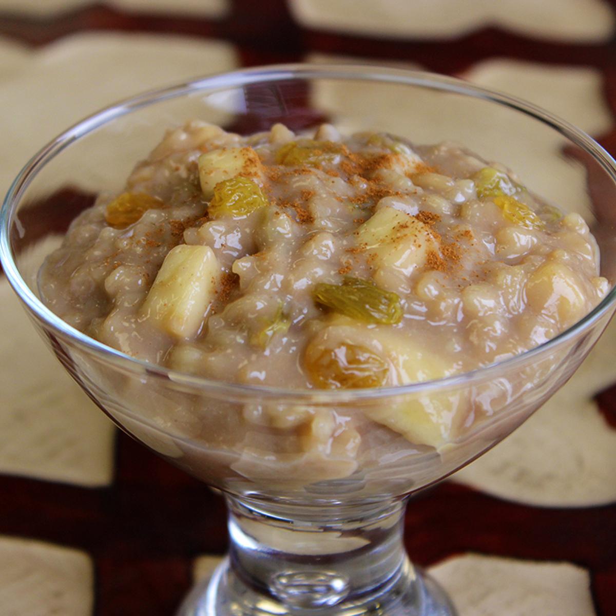 Chai Spice & Apple Rice Pudding Recipe