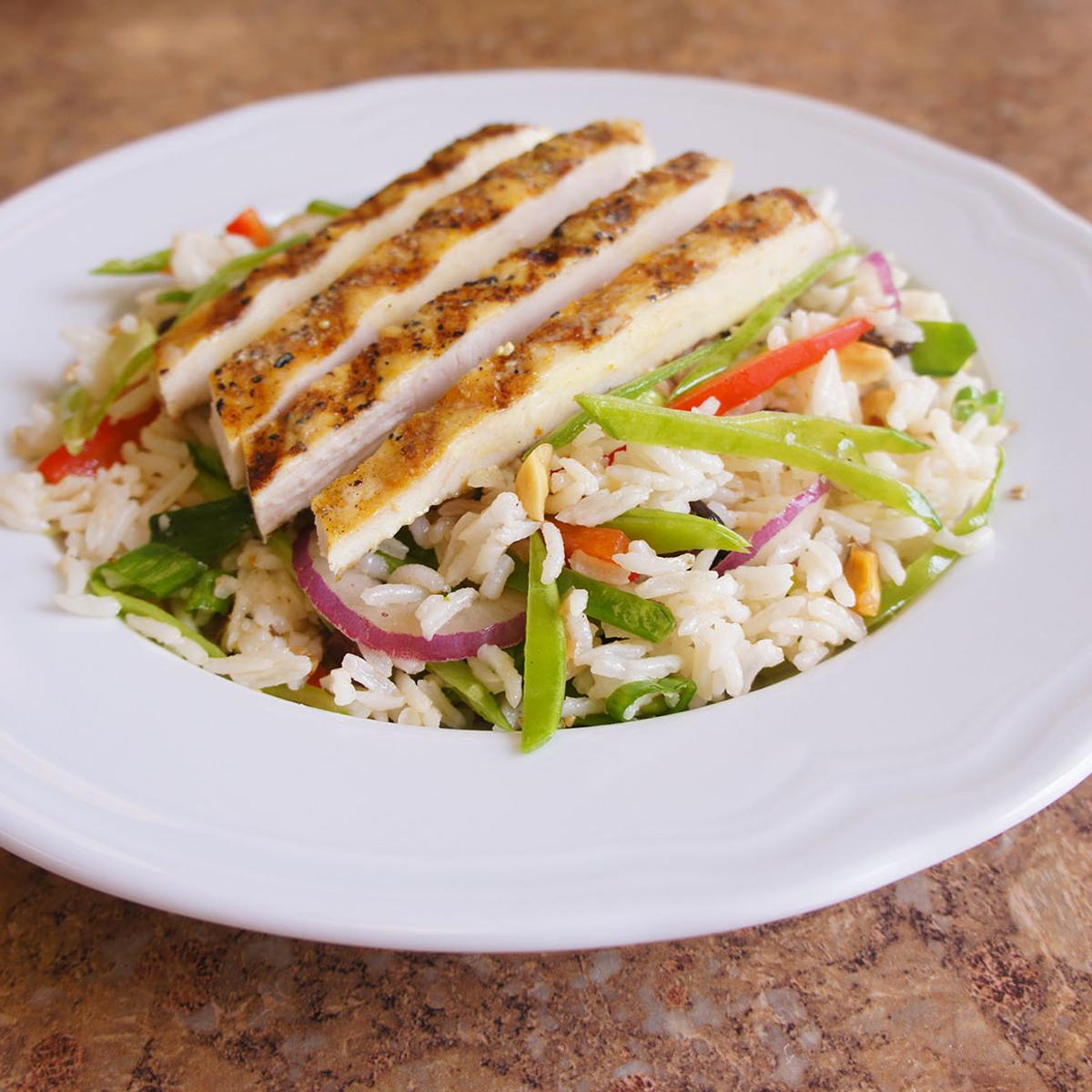 Chicken Curry Rice Salad Recipe