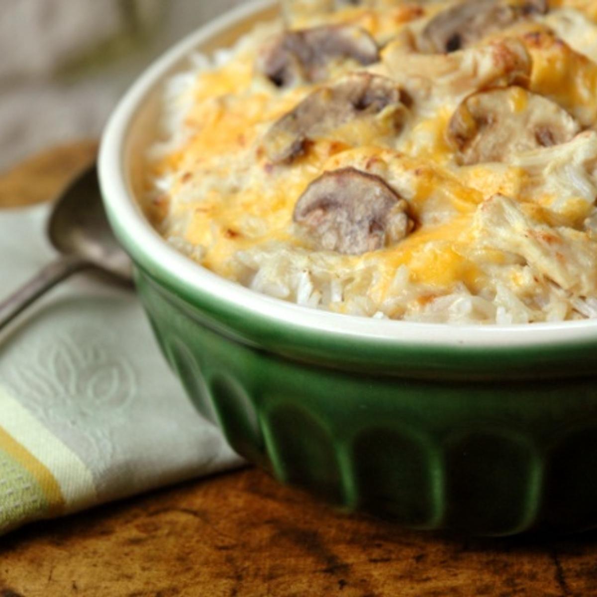 Chicken cheddar Rice Bake Recipe