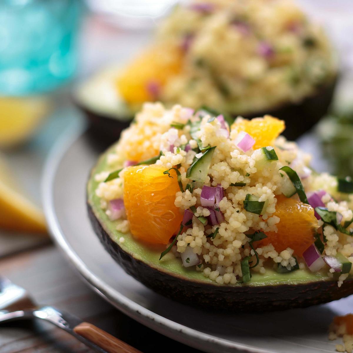 Couscous Avocado Boats Recipe