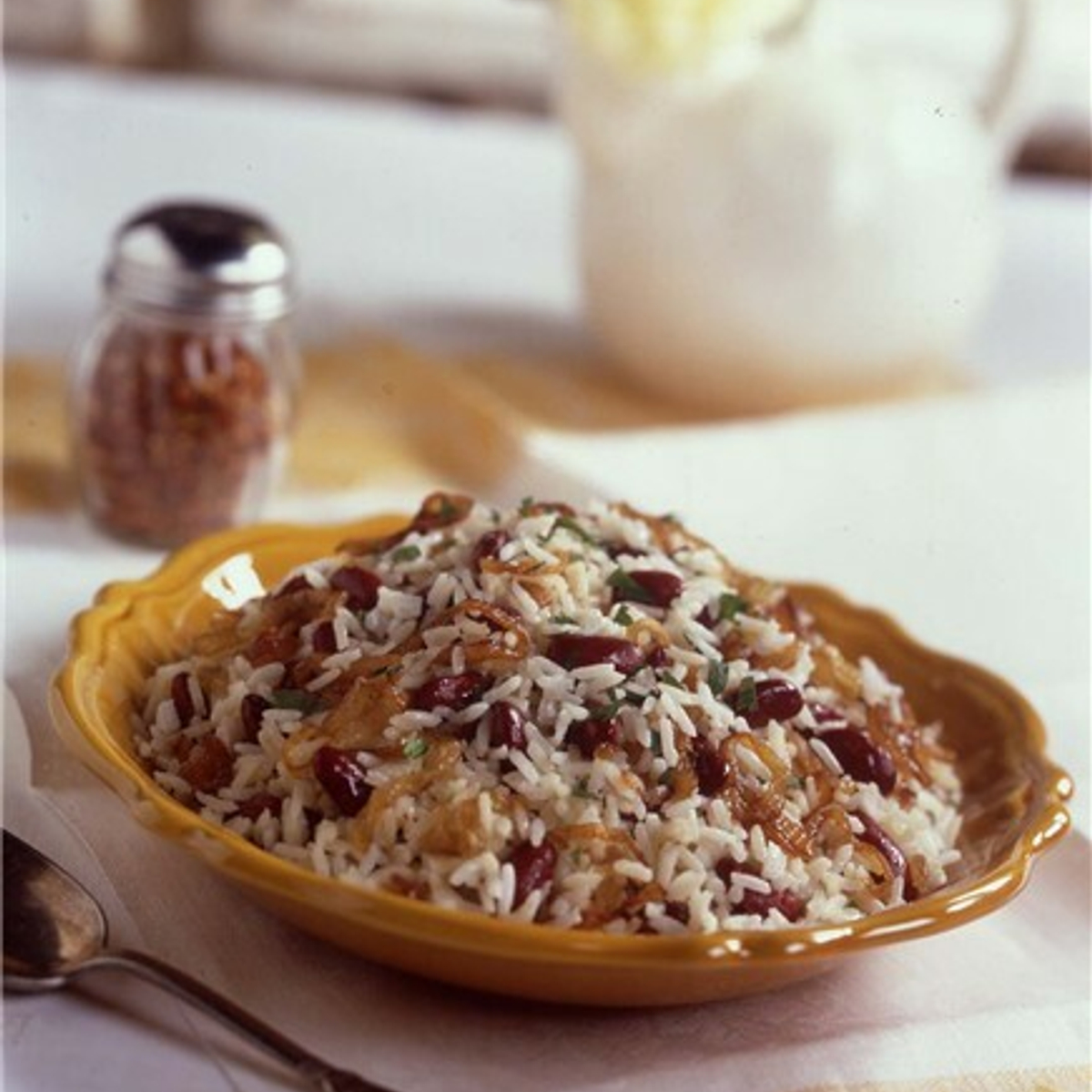 Creamy Red Beans & Rice with Caramelized Onions Recipe