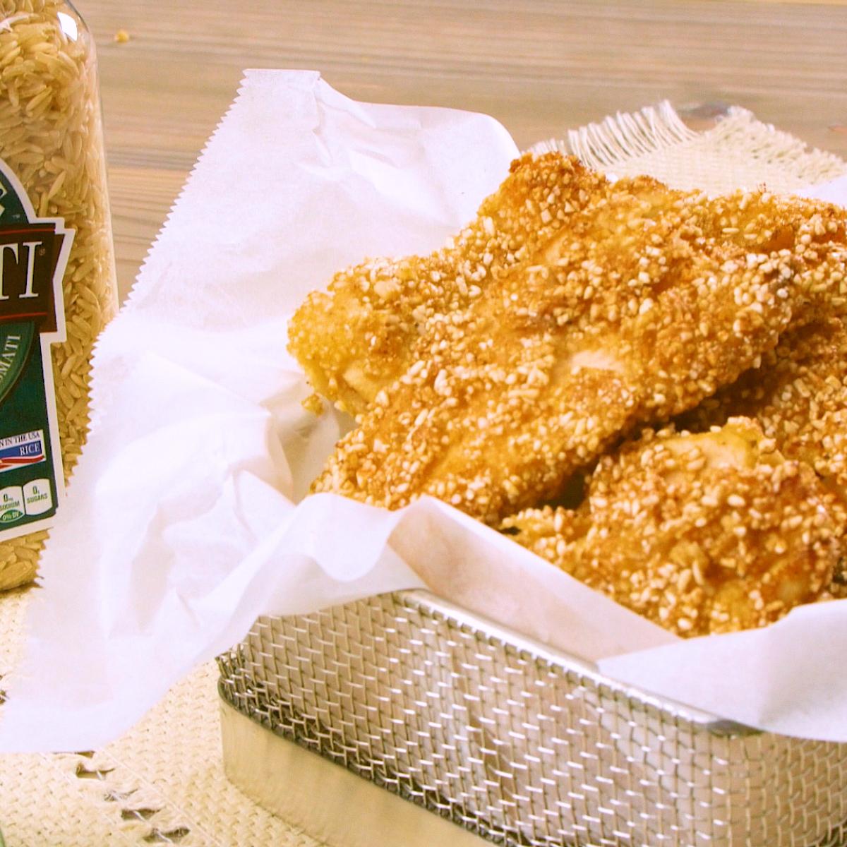 Crispy Brown Rice Chicken Fingers Recipe