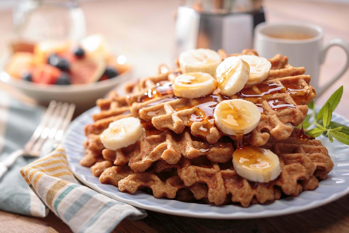 Gluten Free Banana Rice Waffles Recipe