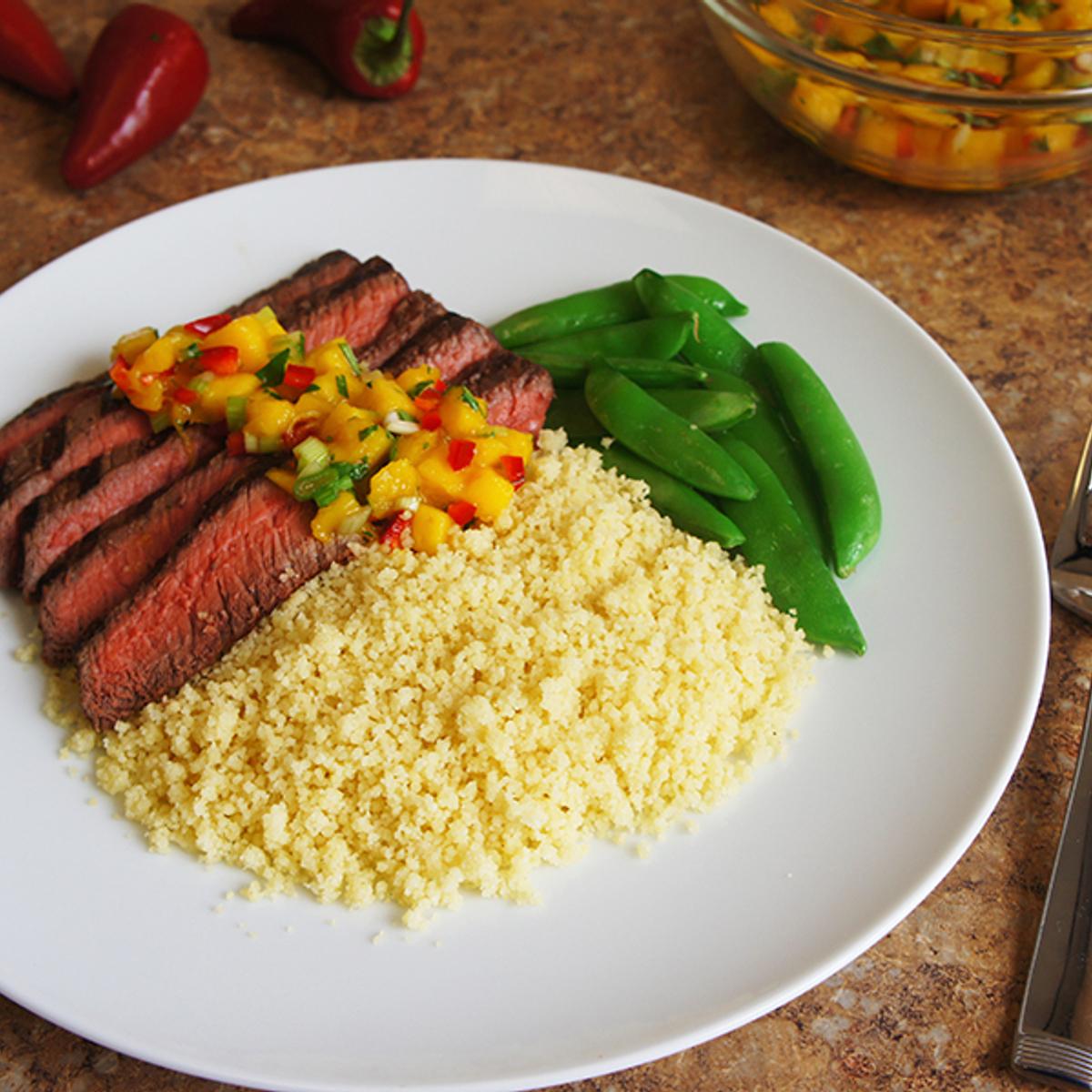 Grilled Steak with Mango Salsa Recipe