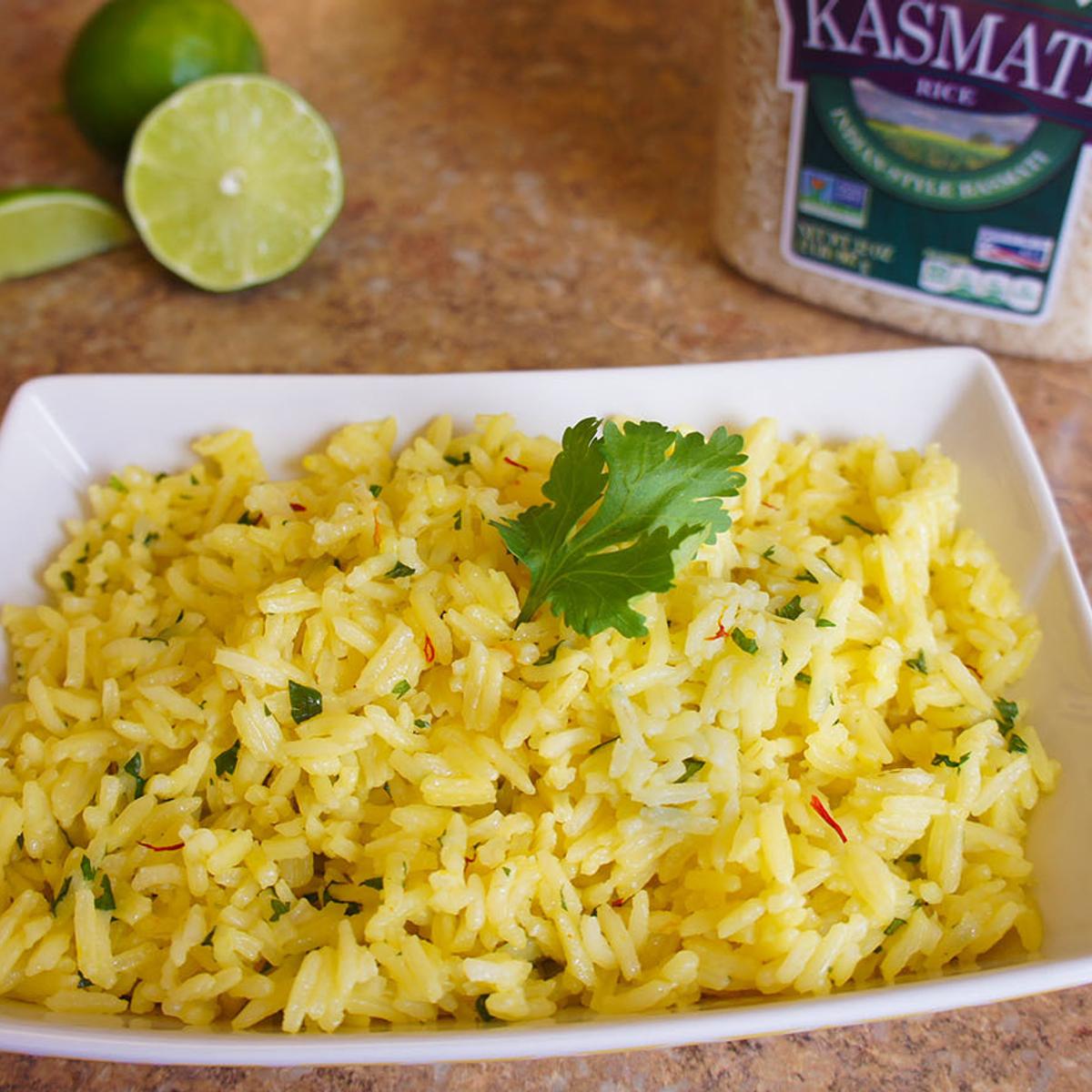 Lime Saffron Rice Recipe