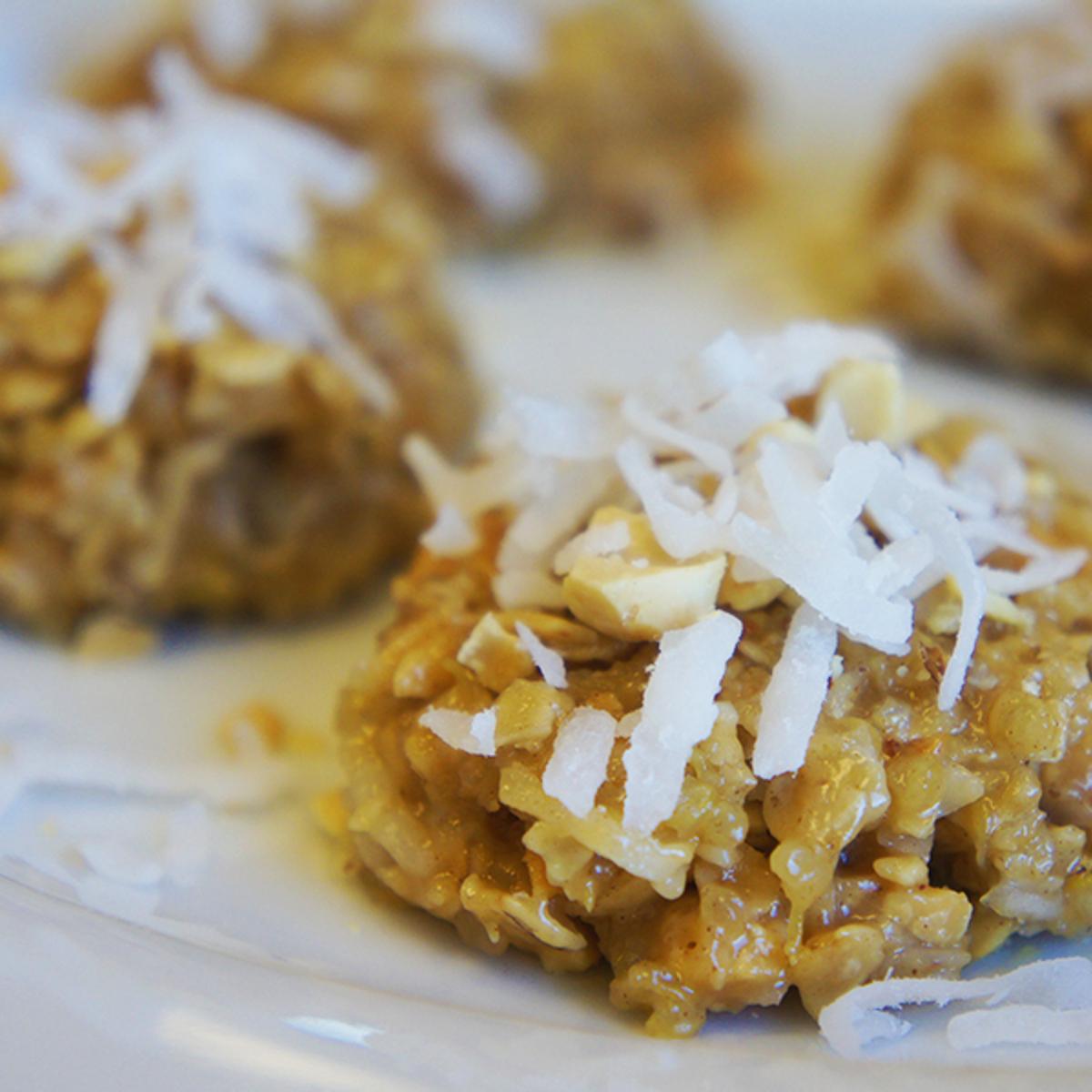 No Bake Peanut Butter Quinoa Cookies Recipe