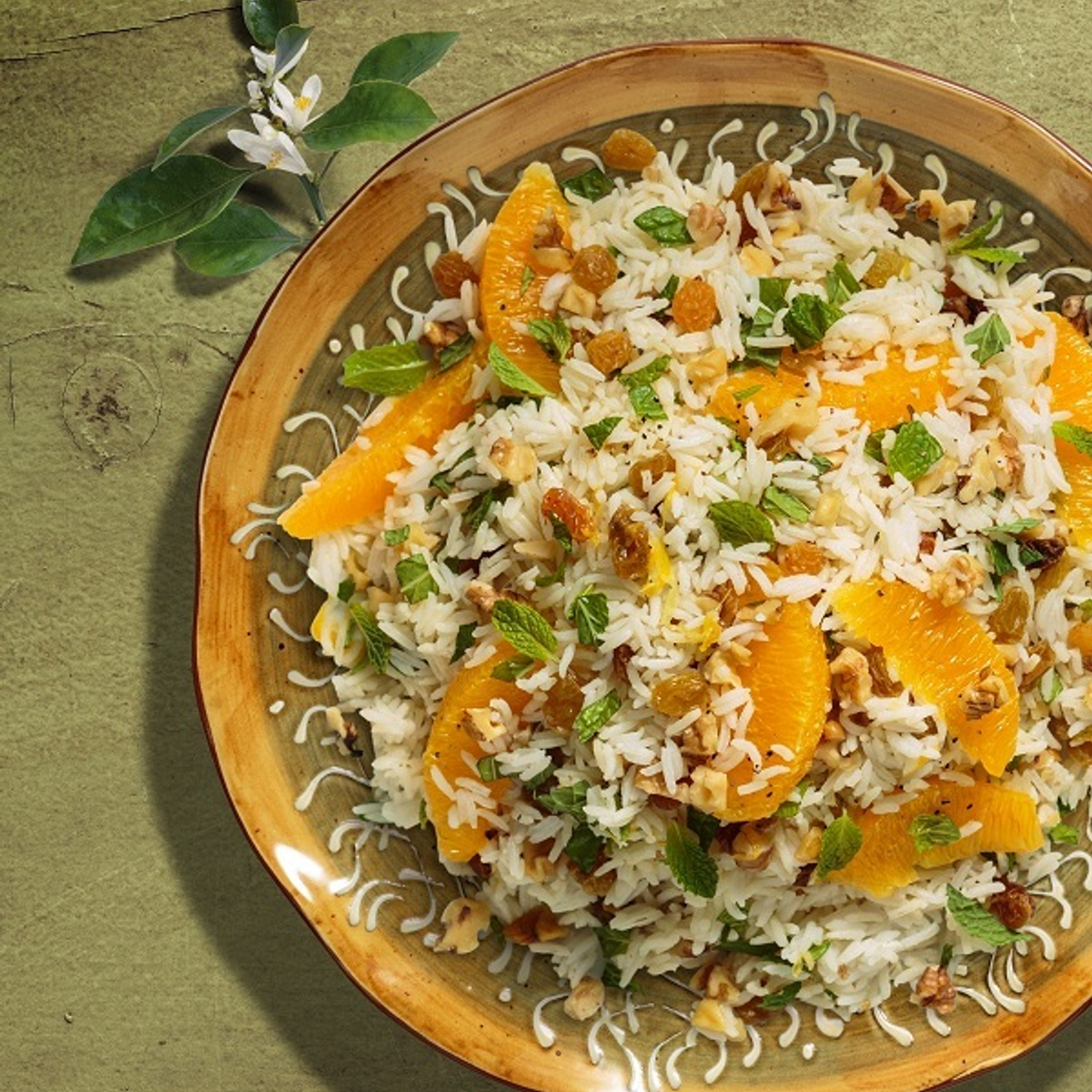 Orange Mint Rice Recipe