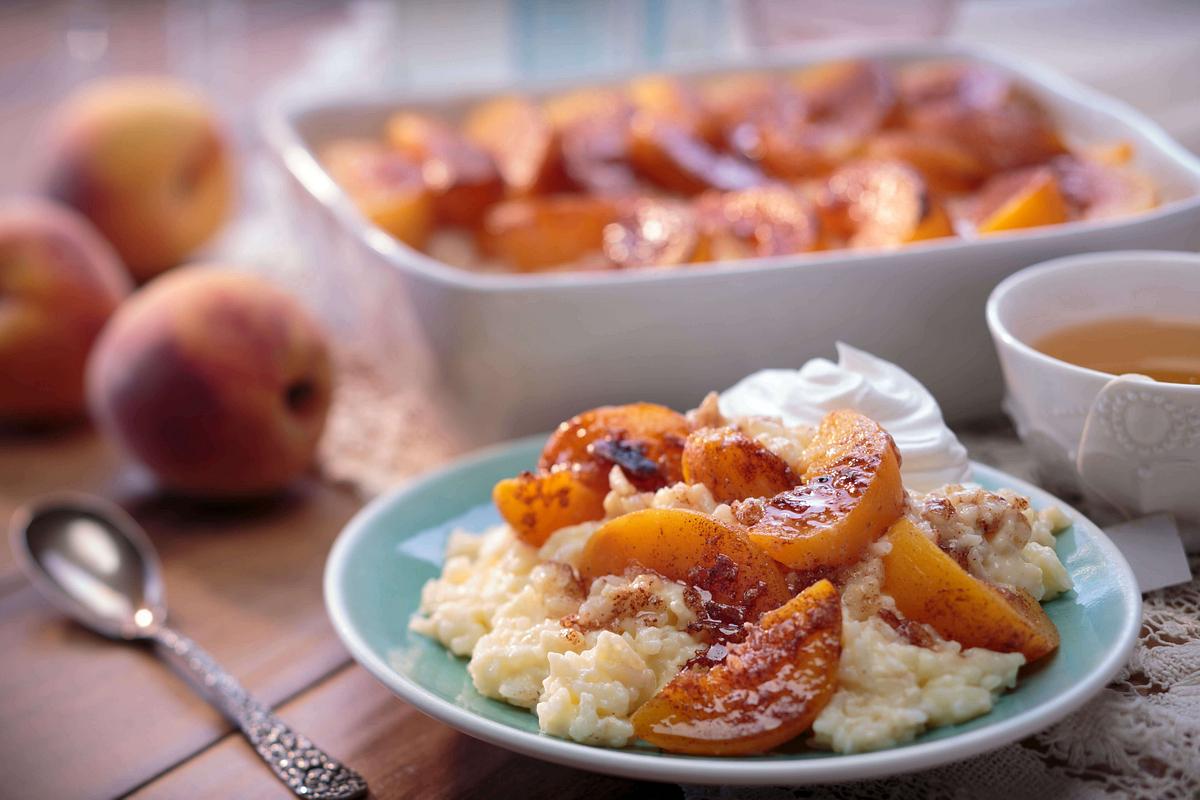 Peachy Keen Rice Bake Recipe