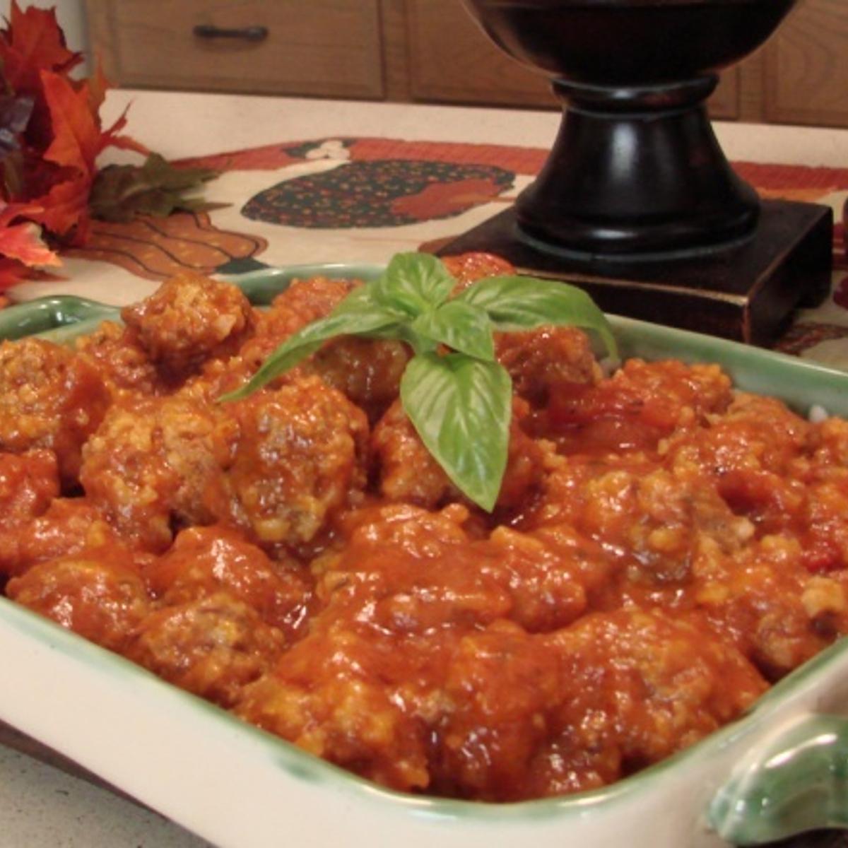 Porky-Pine Meatballs Recipe