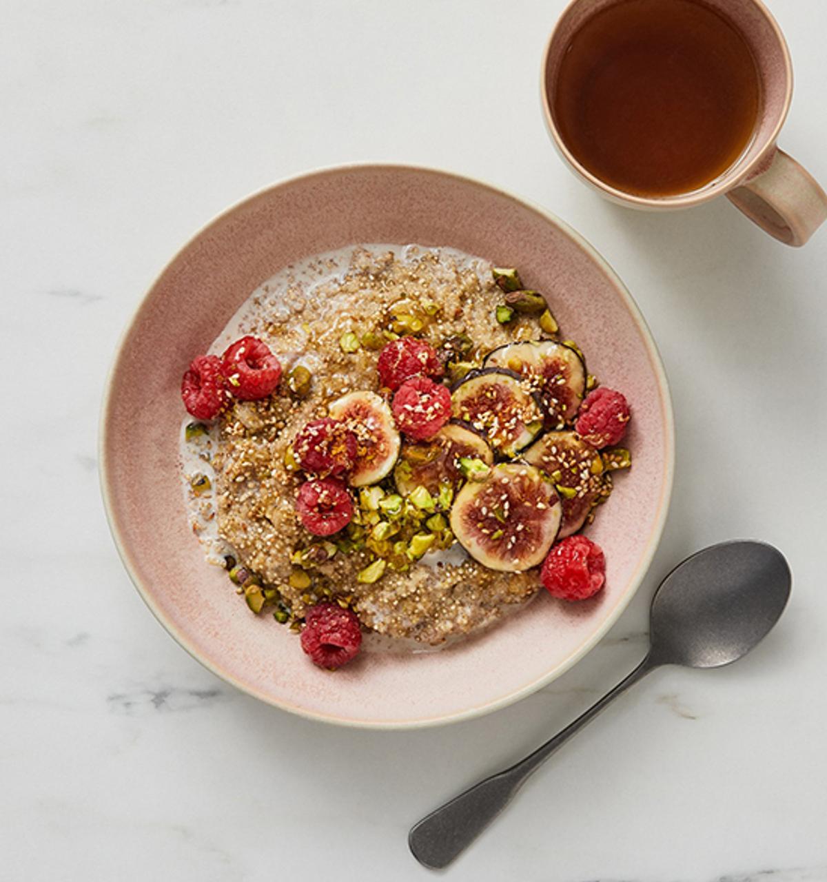 Quinoa Breakfast Bowl With Tahini