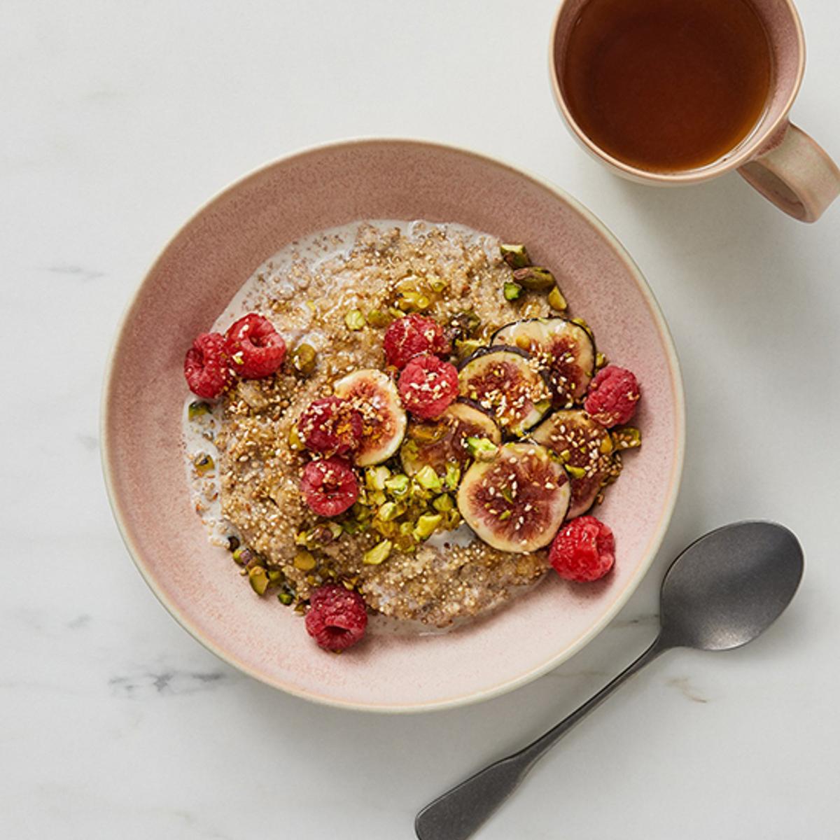 Quinoa Breakfast Bowl With Tahini Recipe