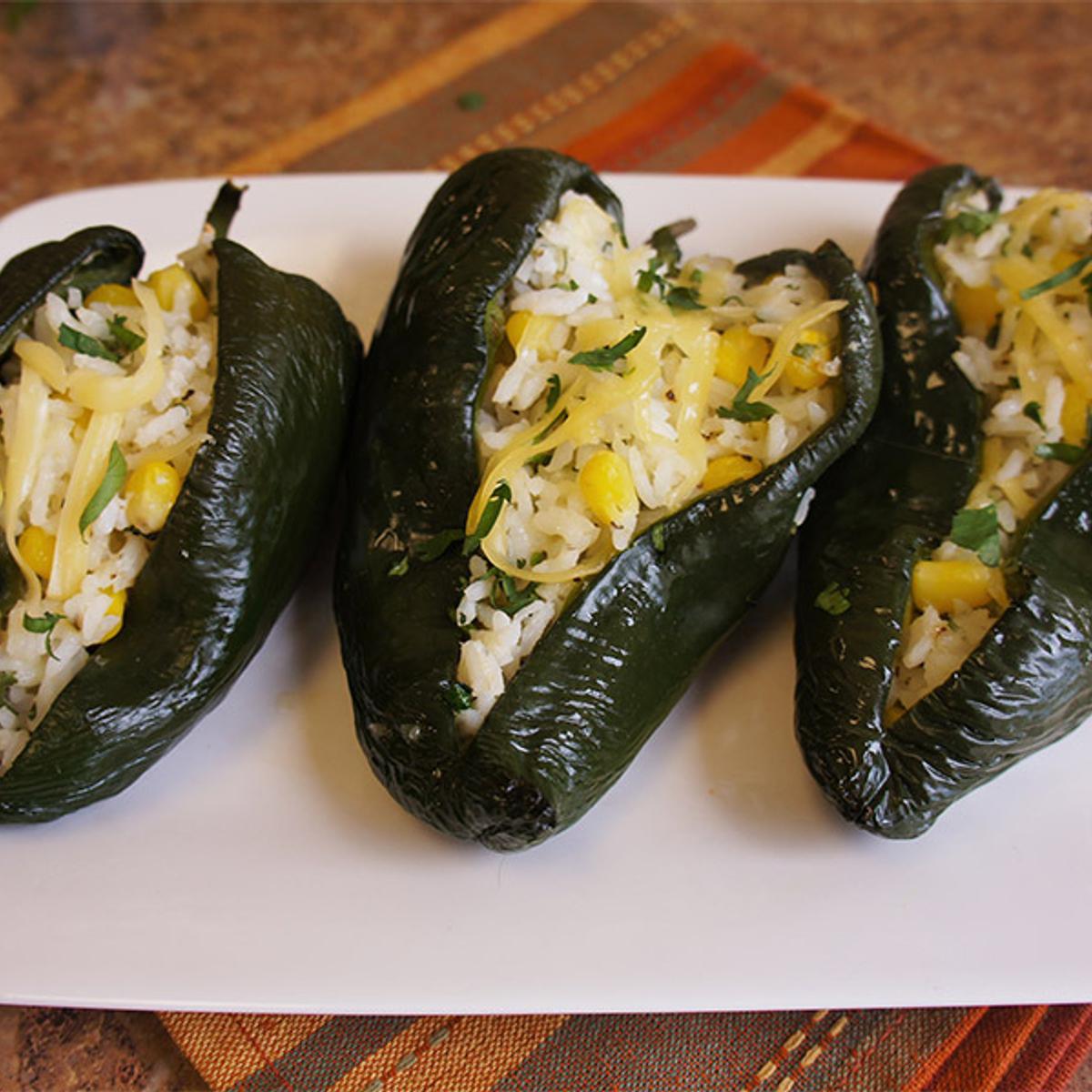 Rio Bravo Rice-Stuffed Poblanos Recipe