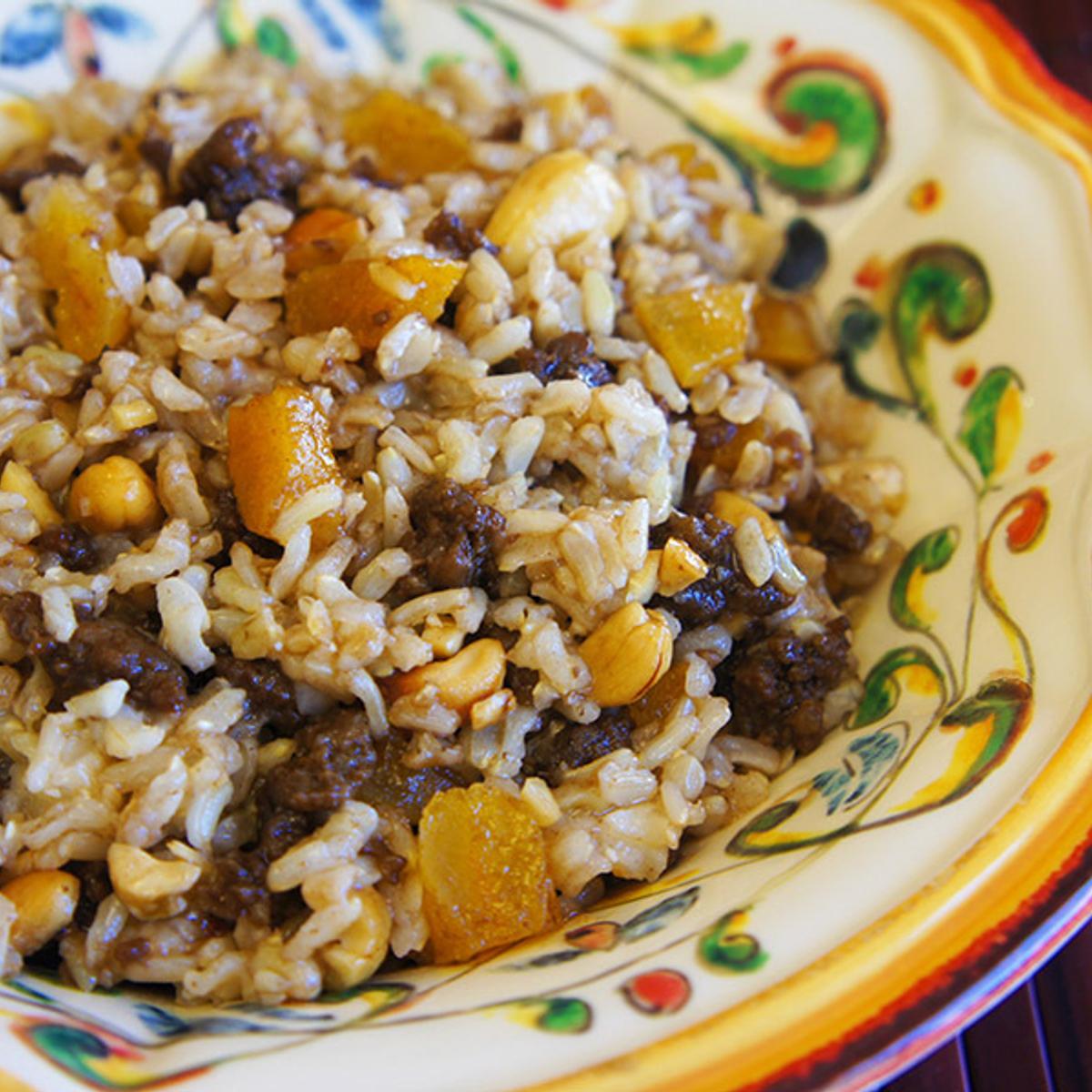 Sausage & Apricot Balsamic Rice Recipe