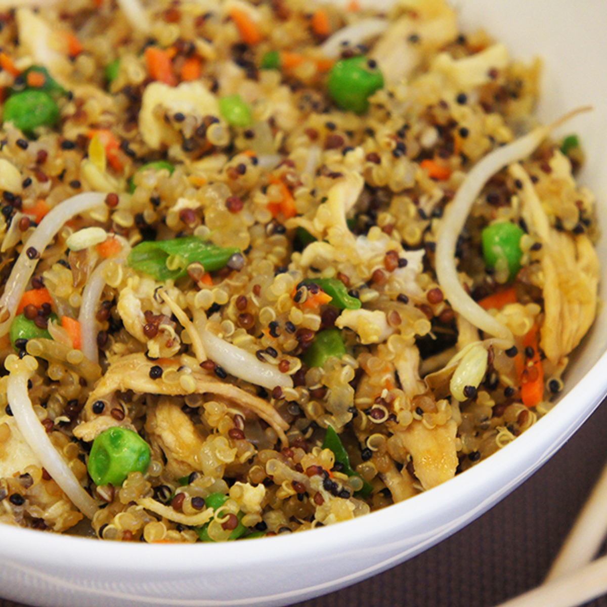 Stir Fried Chicken & Quinoa Recipe