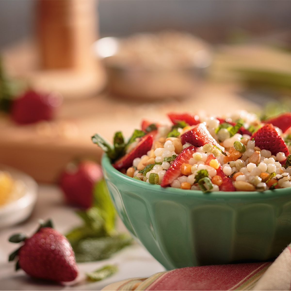 Strawberry Pearl Couscous Summer Salad Recipe