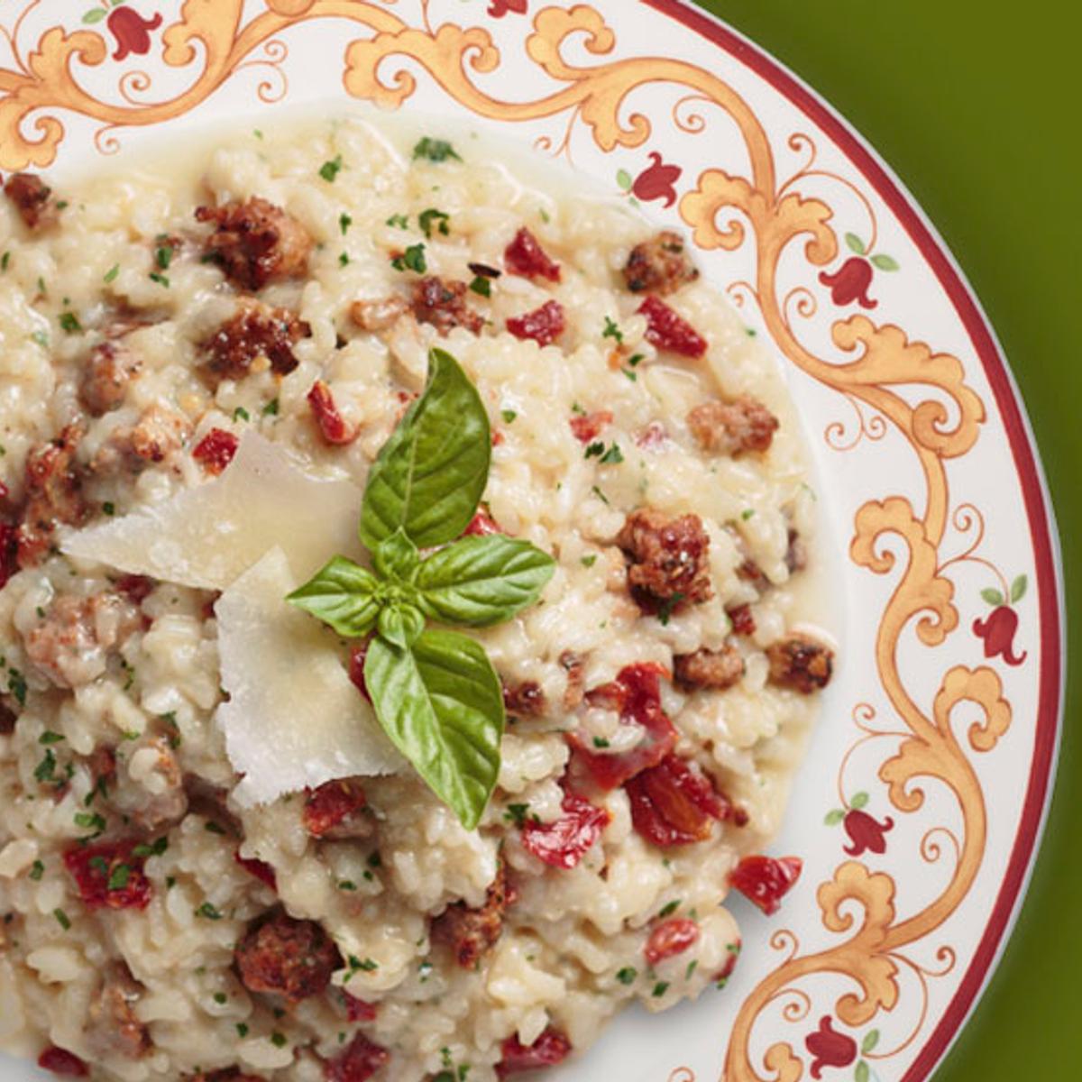 Sun-Dried Tomato & Italian Sausage Risotto Recipe